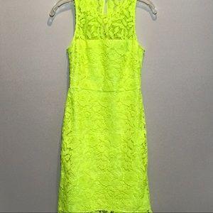 J. Crew Neon Yellow Highlighter Lace Sleeveless 2